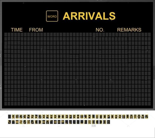 WORD NON ARRIVALS
